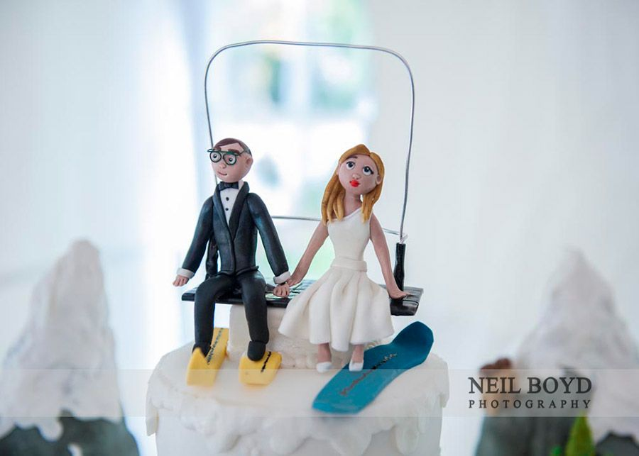 Personalized Wedding Cake Topper Raleigh Weddings Ski Themed