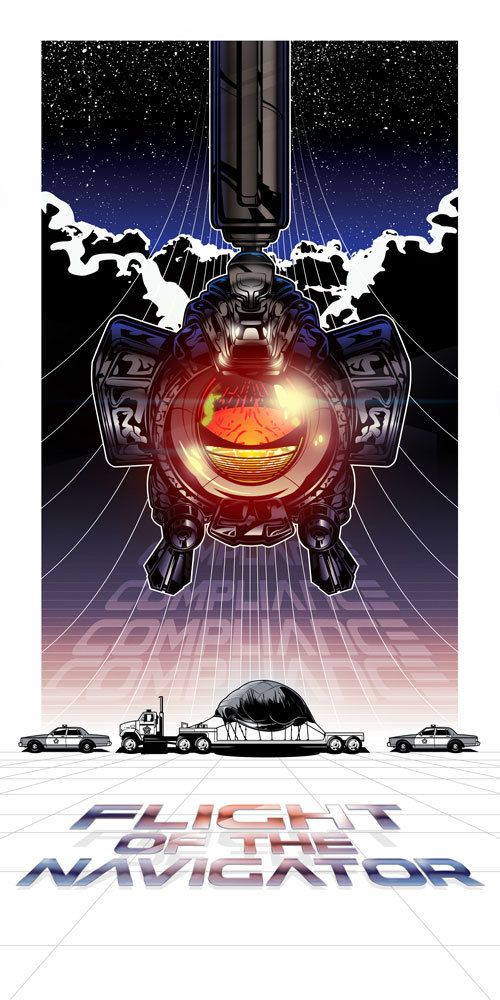Love This Poster Featuring Max From The Disney Movie Flight Of The Navigator Compliance Flight Of T Flight Of The Navigator Cool Art Graphic Poster Art