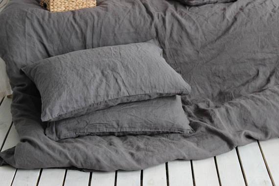 Custom Linen Pillowcase Flax Pillow cover 100/% Organic Queen King Twin