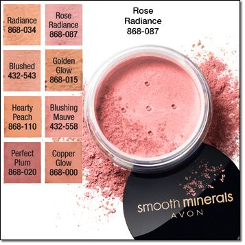 The formula for this lightweight powder contains Avon's exclusive 100% naturally derived mineral blend with essential nutrients plus vitamins. Swipe the powder blush over your cheeks to bring out your skin's natural vibrancy! Illuminate your cheeks and achieve an airbrushed look with Smooth Mineral Blush. Great for all skin types, even sensitive. Regularly $11 online at www.youravon.com/my1724 #AVON #SHOPONLINE #BUYAVONONLINE #SMOOTHMINERALS #BLUSH #MAKEUPBLUSH
