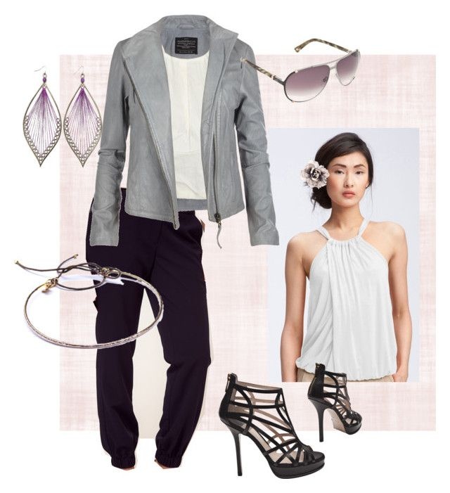 """""""Live Real"""" by cheri-m ❤ liked on Polyvore featuring Trina Turk, ASOS, AllSaints, BALDAN, Bundle MacLaren Millinery, Gag & Lou and Christian Dior"""