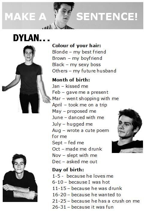 I got Dylan my boyfriend/ future husband (I have brown/ red hair) wrote a cute poem for me because he has a crush on me:)