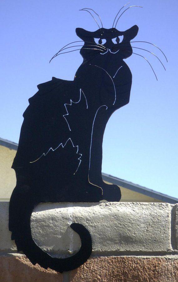 Chat Noir Black Cat Garden Art