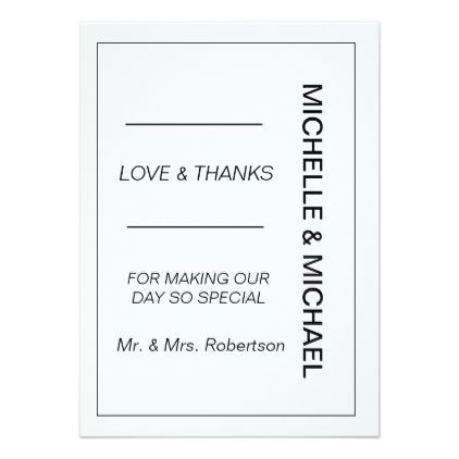 Black white vertical wedding thank you card wedding invitations black white vertical wedding thank you card wedding invitations cards custom invitation card design marriage stopboris Image collections