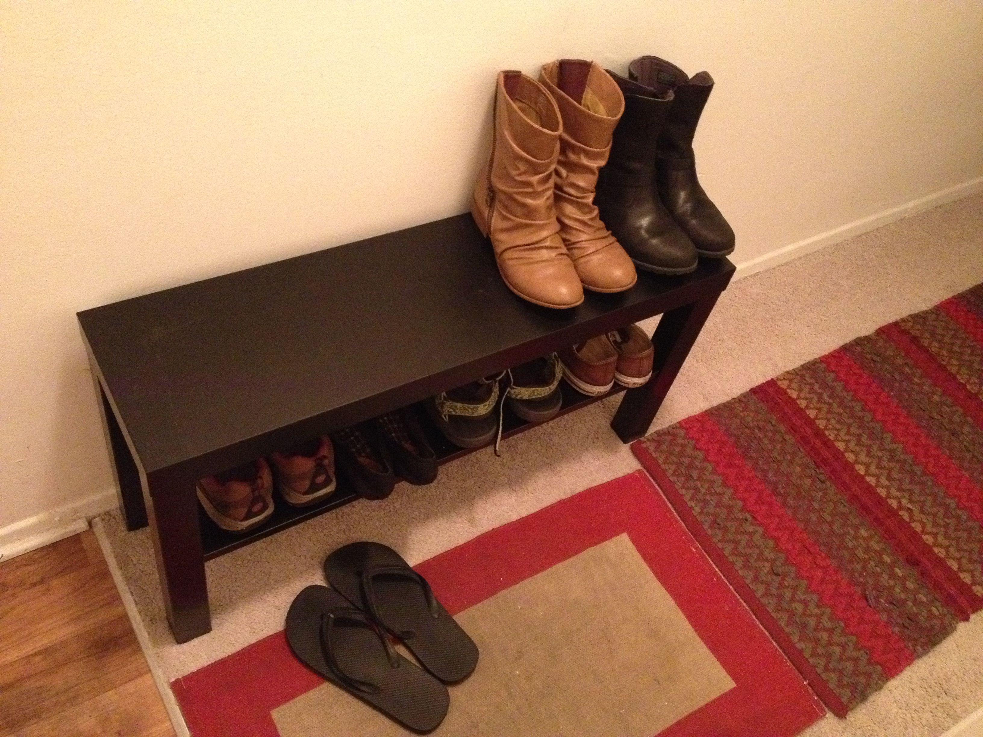 LACK TV unit, black | Shoe bench, Tv units and Bench
