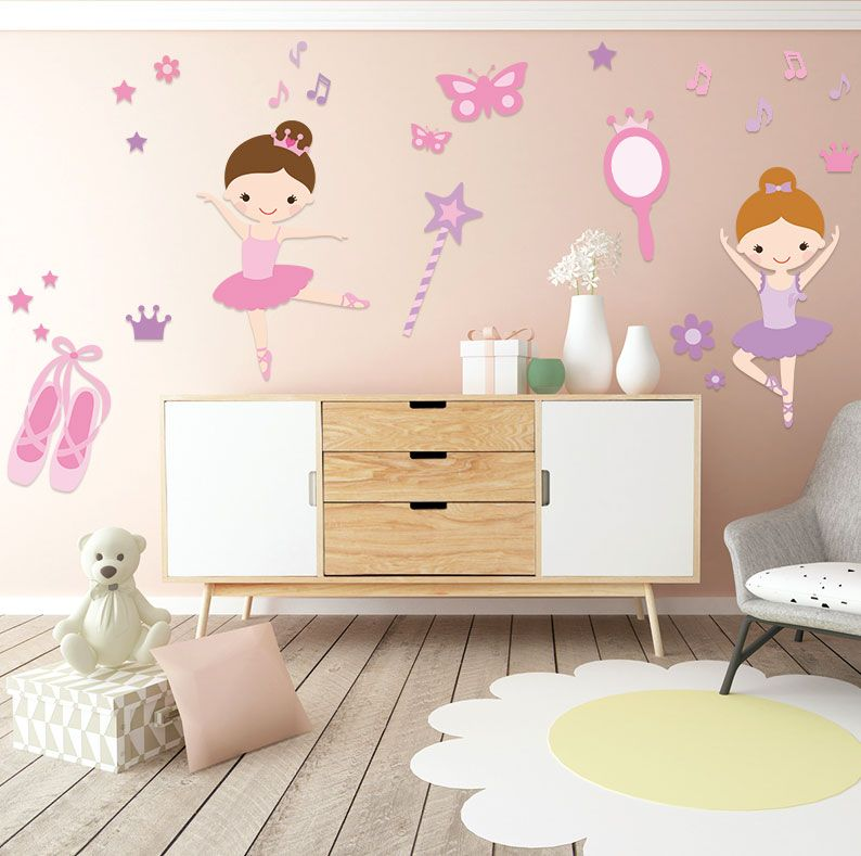 eine ideale wanddekoration f r dein m dchen prima ballerina dekoration kinderzimmer idee. Black Bedroom Furniture Sets. Home Design Ideas