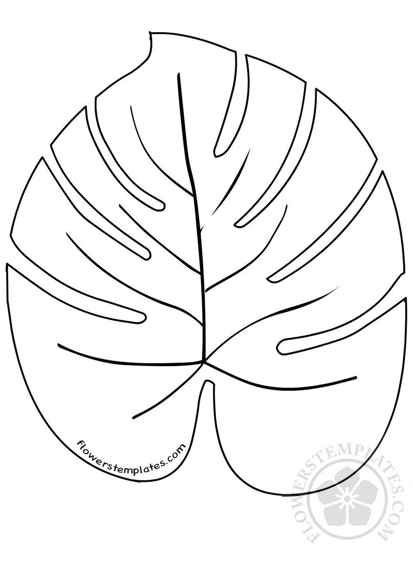 Large Palm Leaves Template Flowers Templates Leaf Template Leaf Coloring Page Flower Template