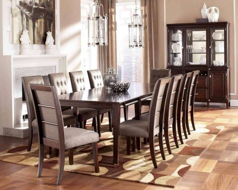 10 Chair Dining Room Table Seat Formal Sets Dimensions And Chairs