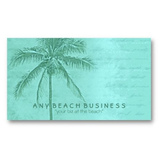 Tropical Palm Tree Aqua Green Business Card Zazzle Com Green Business Tree Logo Design Business Card Inspiration