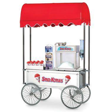 The Classic Snow Cone Cart - Hammacher Schlemmer