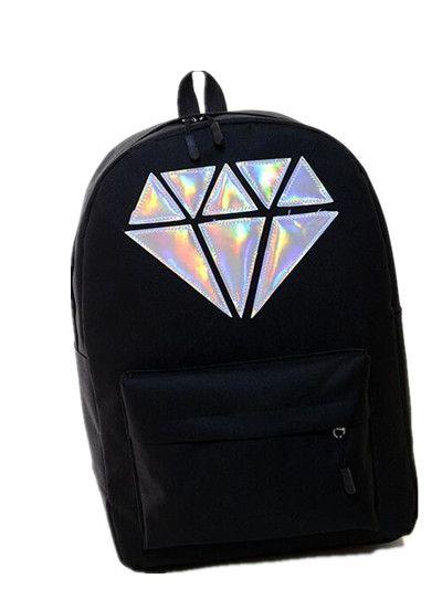 Encontrar Más Mochilas Información acerca de Caliente venta 2018 nueva moda  5 del color del caramelo de diamante láser hombr…  30e64c05b039b