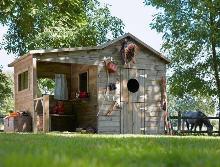 Le cabanon de jardin en 46 photos - choisir son style préféré - Maisonnette En Bois Avec Bac A Sable