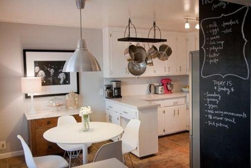 20 kreative ideen für kleine küche tafel schwarz