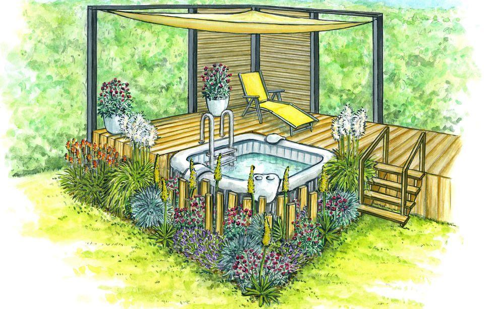 Mini Pools 3 Gestaltungsideen Fur Kleine Garten In 2020 Mini Pool Backyard Animals Garden Design