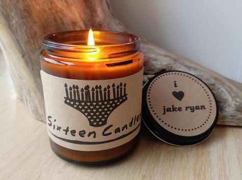 Sixteen Candles Gift Birthday Cake Scented Candle Jake Ryan I Love