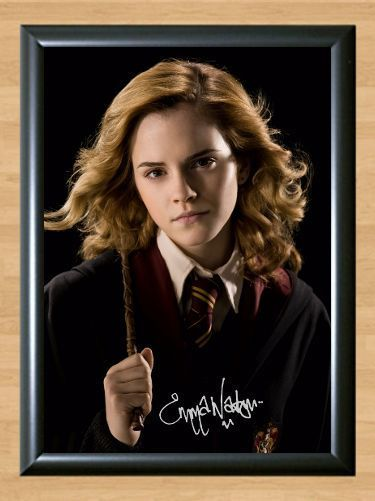 Hermione Granger Harry Potter Emma Watson Signed Autographed A4 Print Photo Dvd Hermione Granger Harry Potter Emma Watson