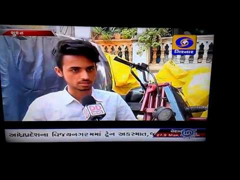 Doordarshan News Limca Book of Record Motorcycle