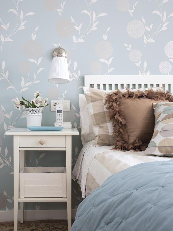 Antes y despu s un piso de 40m2 reformado casa pintar - Papel pintado dormitorio ...