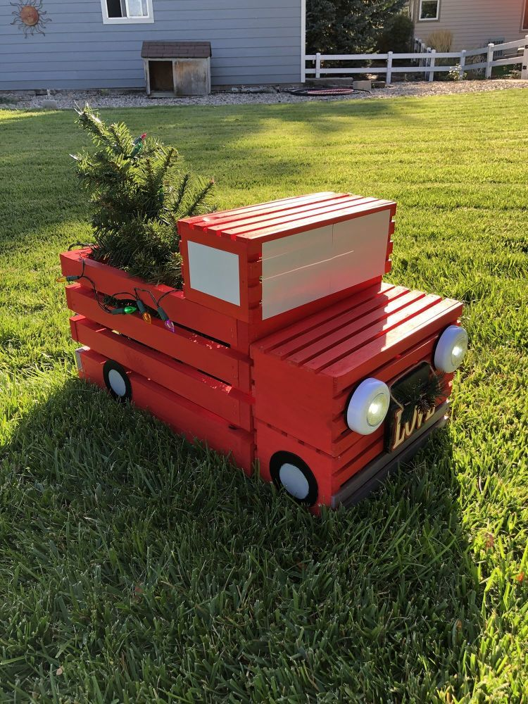 Photo of How to Make a DIY Crate Red Pickup Truck