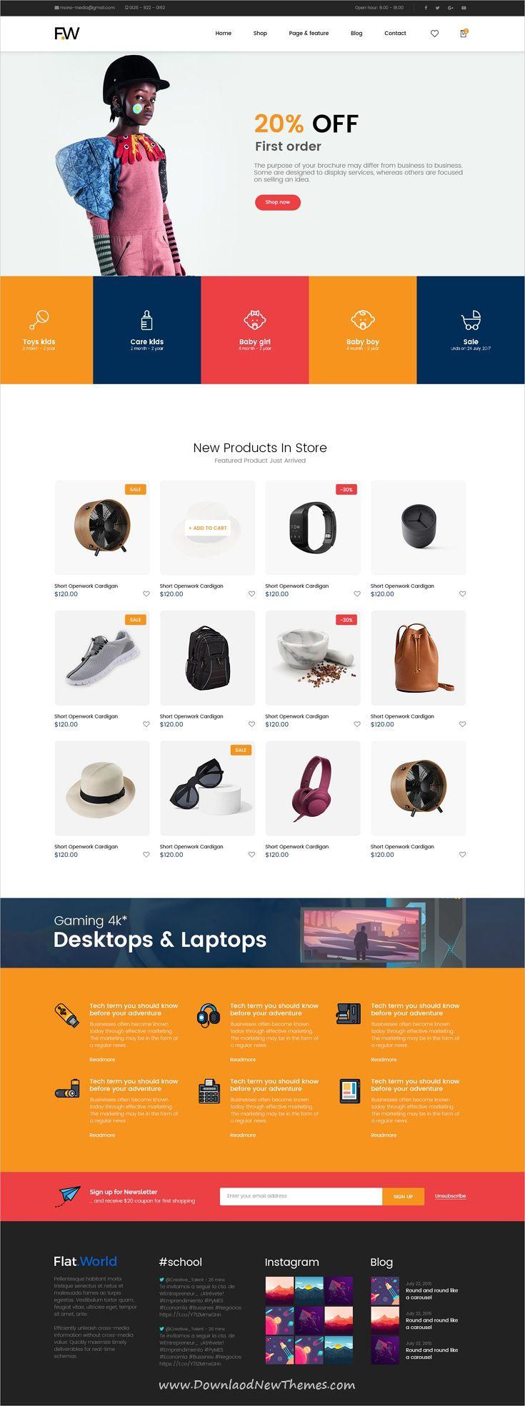 Colorful Websites For Girls Sample Web Design