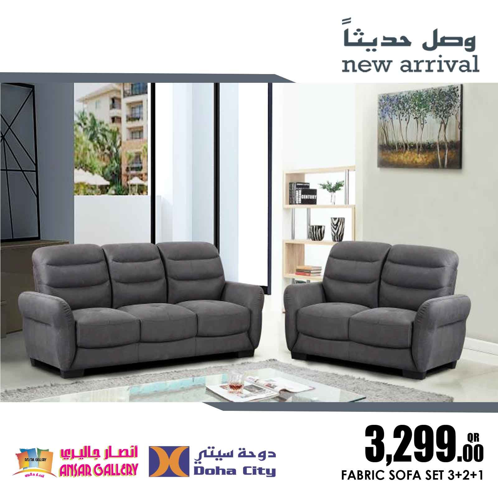Pin By Ansar Gallery Qatar On Furniture Sofa Set Furniture Fabric Sofa