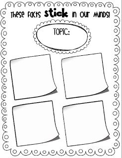 reading nonfiction using sticky notes (freebie included