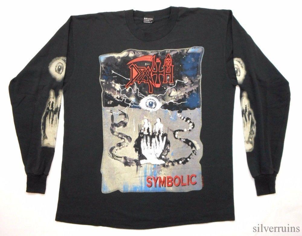 Death Vintage T Shirt 90s Tour Concert 1995 Symbolic Ls Metal Band