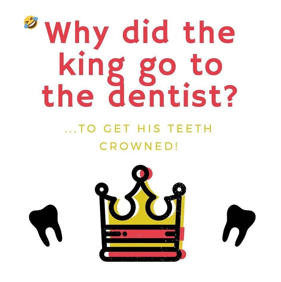 Teeth Are Fun: We're Totally OK With Dad Jokes! - #dadjokes #dentalcrown #freeconsultation #holisticdentist #paigewoods #sandiegodentist -   Is this more of a dad joke or a preschooler joke? But do preschoolers know about dental crowns and their ability to restore teeth that can't be restored any other way? Whatever. The joke isn't that funny, but a crown is really useful. Learn more at free oral health consultation. Make an appointment by calling Brighton Dental San Diego now at (619) 359-6569.