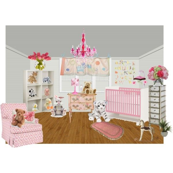 baby room by tambra-cantrell on Polyvore featuring interior, interiors, interior design, home, home decor, interior decorating, Lux-Art Silks, Diane James, Ethan Allen and Oopsy Daisy