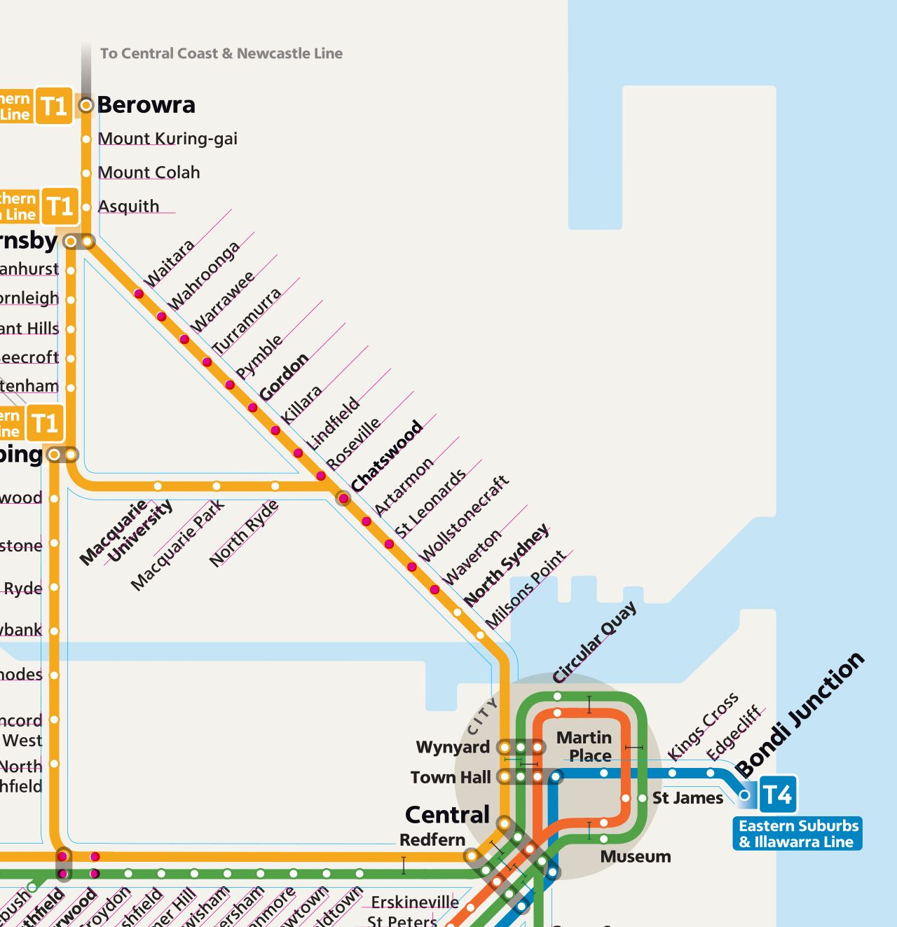 Technical Review: New Sydney Trains Network Map It seems ...