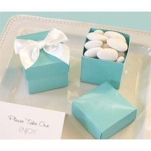 Cute For Guest Favors Amazon Com Mini Cube Boxes Aqua Blue Set Of 144 Baby Shower Gifts W Tiffany Blue Wedding Theme Wedding Favor Boxes Tiffany Theme