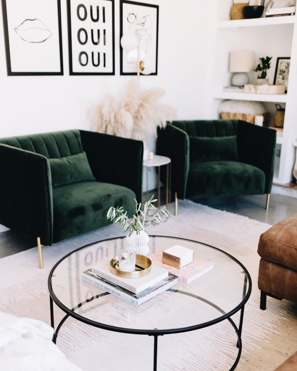 - Living Room Home Decor / Interior Design / Round Coffee T… Round