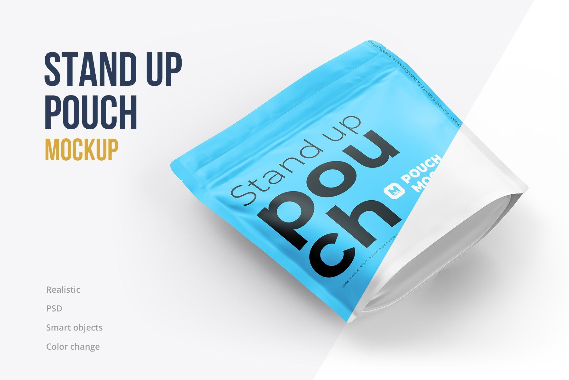 Download Stand Up Pouch Mockup Square By Mock Up Ru On Creativemarket Mockup Mockup Design Stand Up
