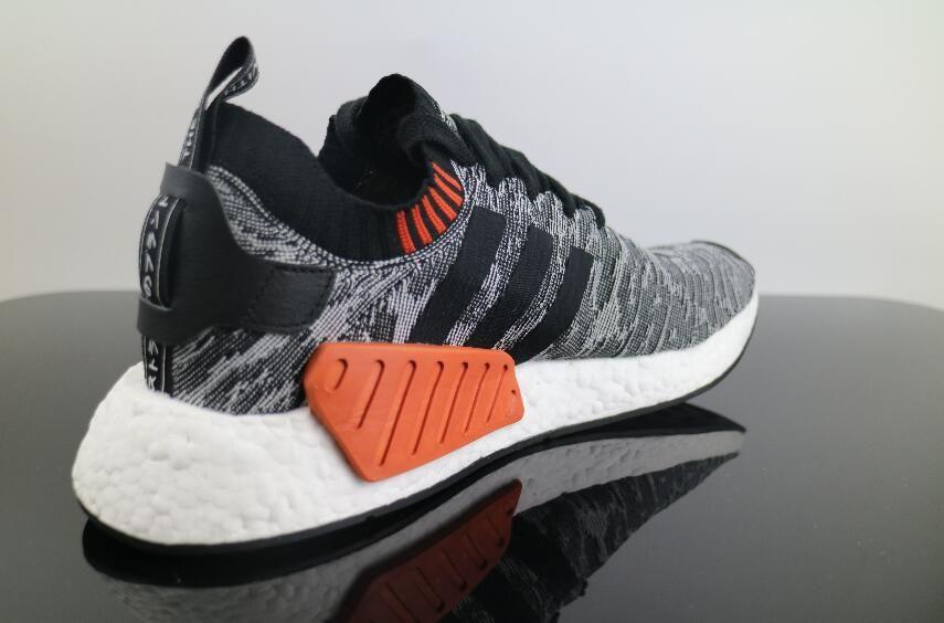 Authentic Adidas Nmd R2 Black Grey Ba9409 Real Boost Free Dhl