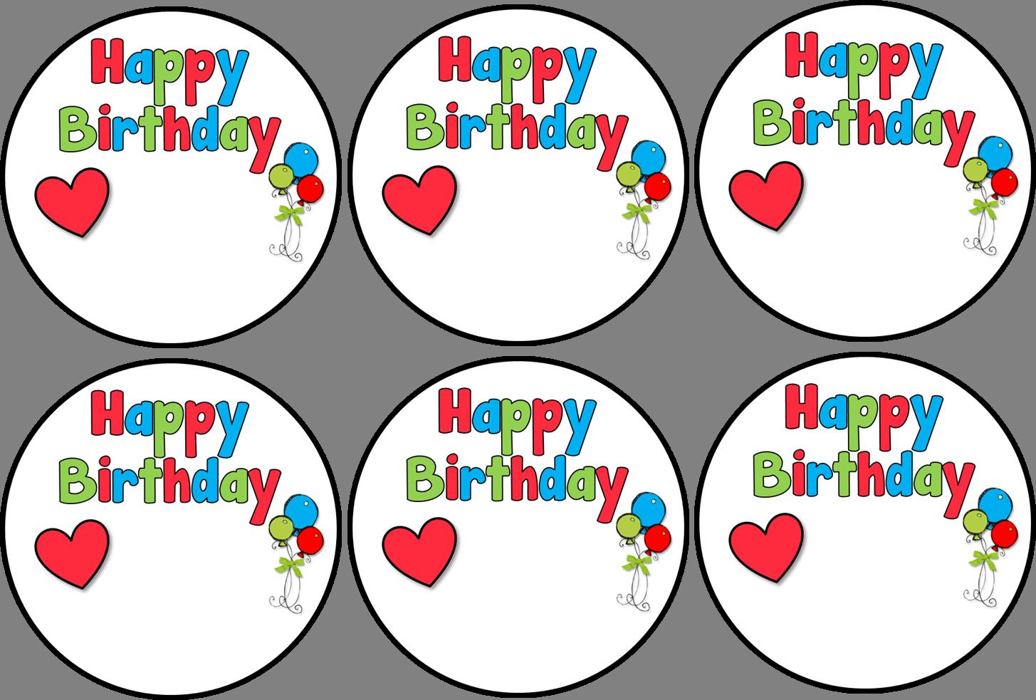 Birthday Tags: Happy Birthday Labels