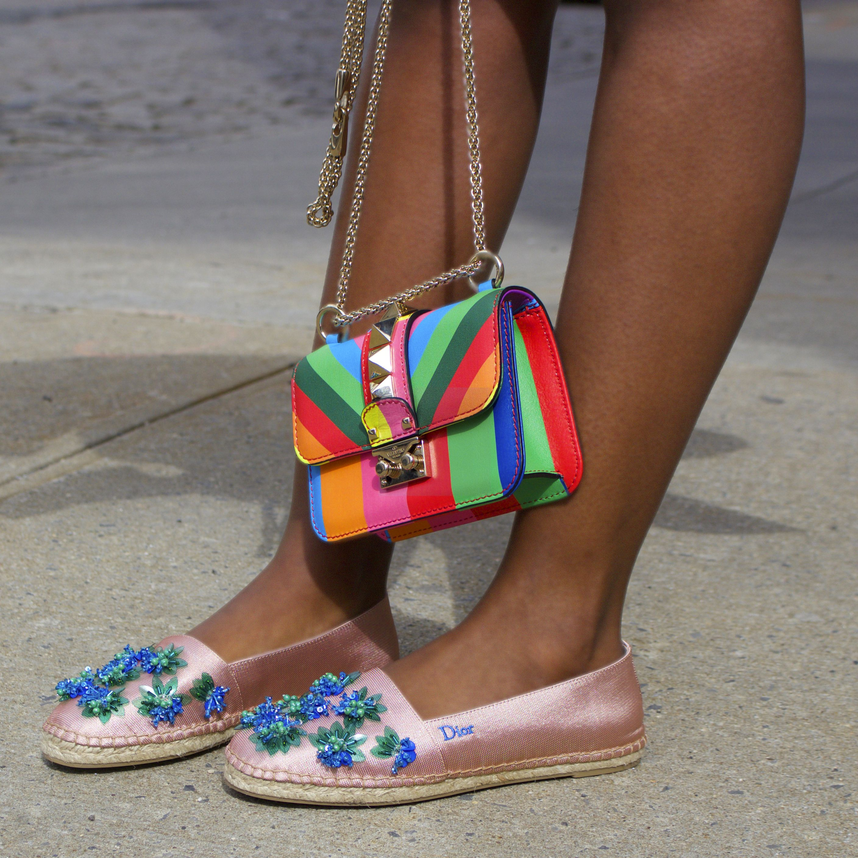 Statement Clutch - RAINBOW HEELS STAT CLUTCH by VIDA VIDA msUCyNQzF