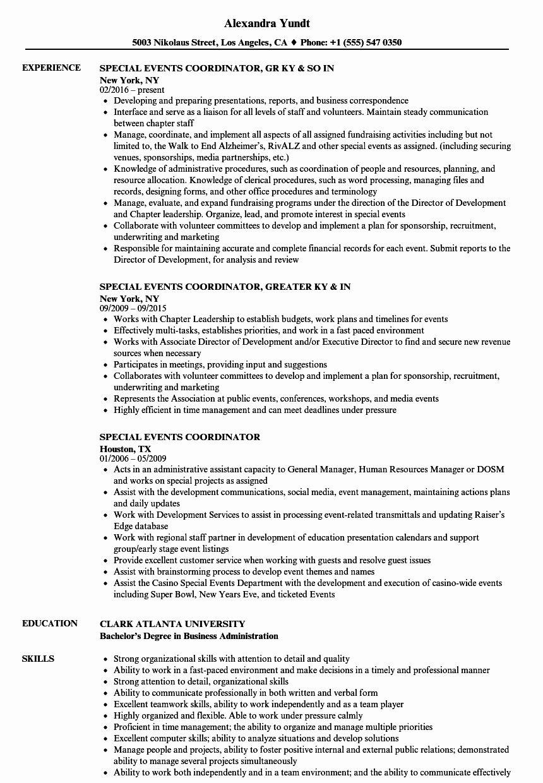 Event planner resume examples new event coordinator resume
