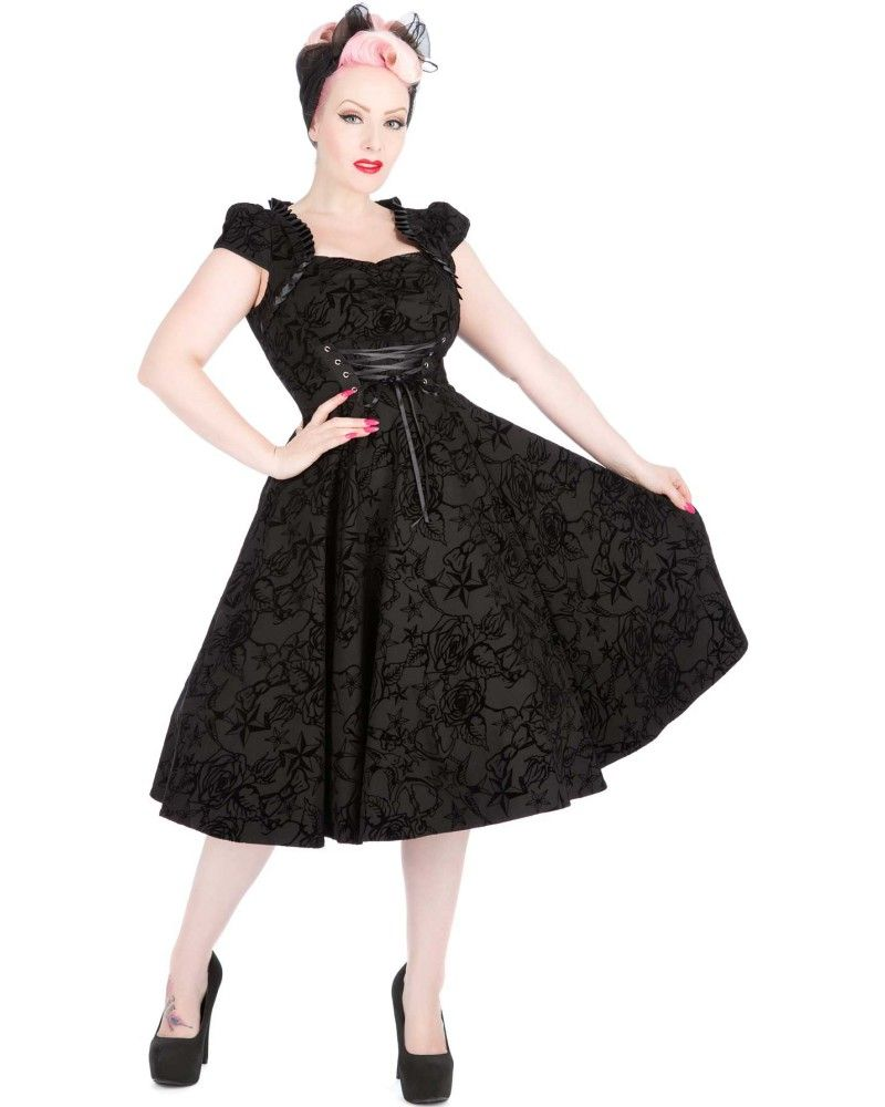 Buy charmant dress black by hearts u roses london tragic