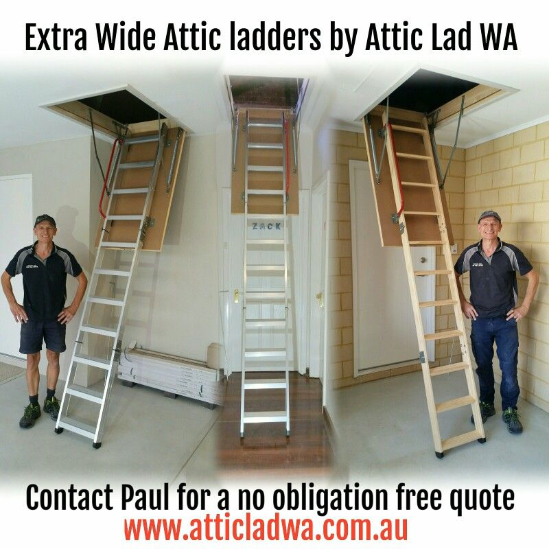 Pin On Extra Wide Attic Ladders Perth By Attic Lad Wa