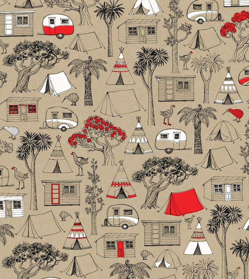 New Zealand Christmas Camping Gift Wrap Sheet By Wolfkamp Stone Christmas Camping Gifts Christmas Gift Wrapping Gift Wrapping