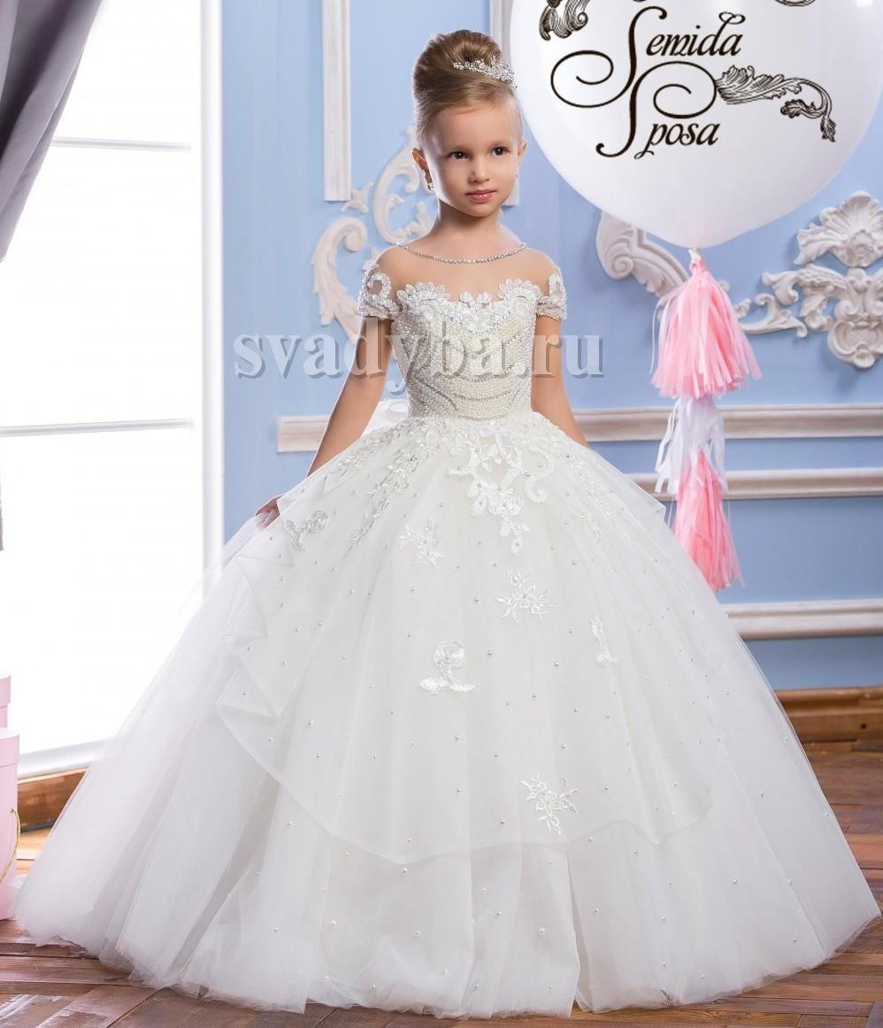 75cccfabb Perlas Encaje Sheer Cuello Tulle vestidos de niña de flor árabe Vintage niño  desfile vestidos hermosos niña de flores vestidos de novia F29