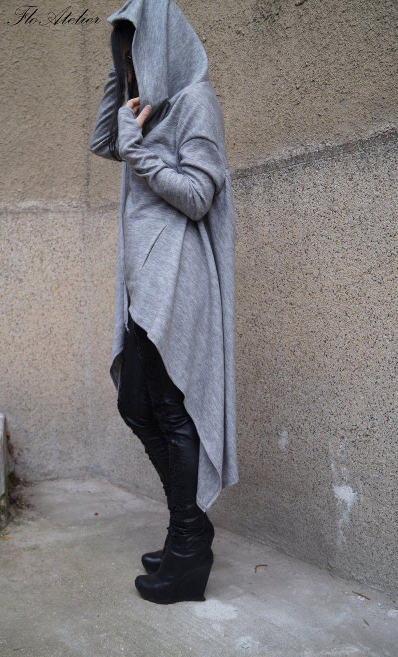 Grey Maxi SweaterExtravagant Handmade BlouseLoose Knitwear