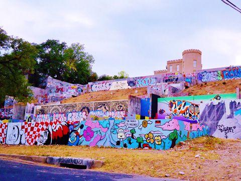 Graffiti Wall Austin In Clarksville Street Art Graffiti Wall Art Wall
