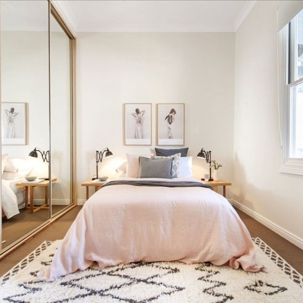 Awesome 80 Cozy Small Bedroom Remodel