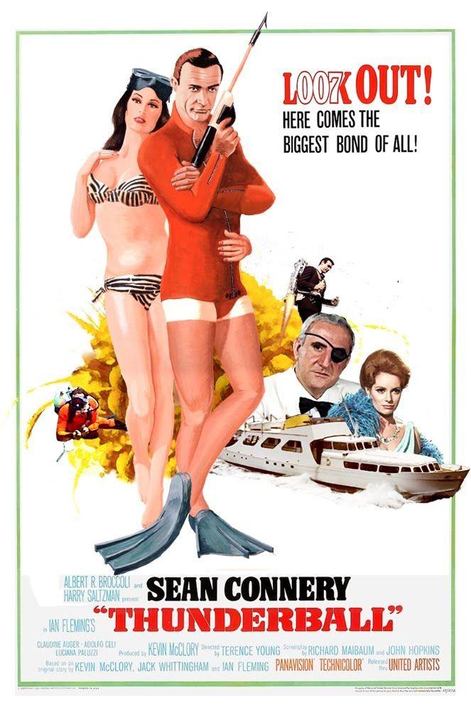 Movie G No Goldfinger Poster art James Bond Sean Connery Dr Thunderball