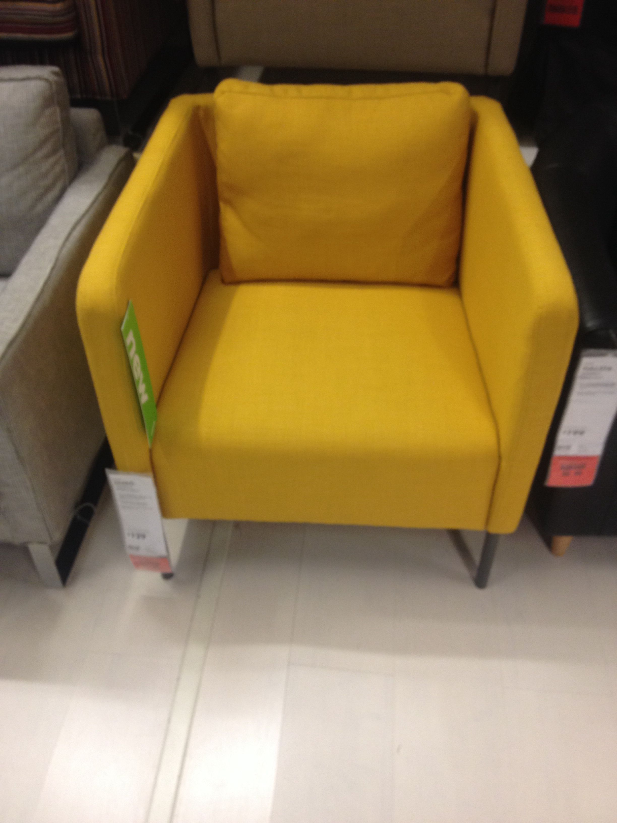 New ikea chair: love the mustard yellow and shape ...