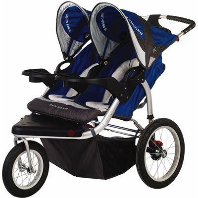 Schwinn Turismo Swivel Double Jogging Stroller Blue Gray Jogging Stroller Double Jogging Stroller Baby Gear Stroller