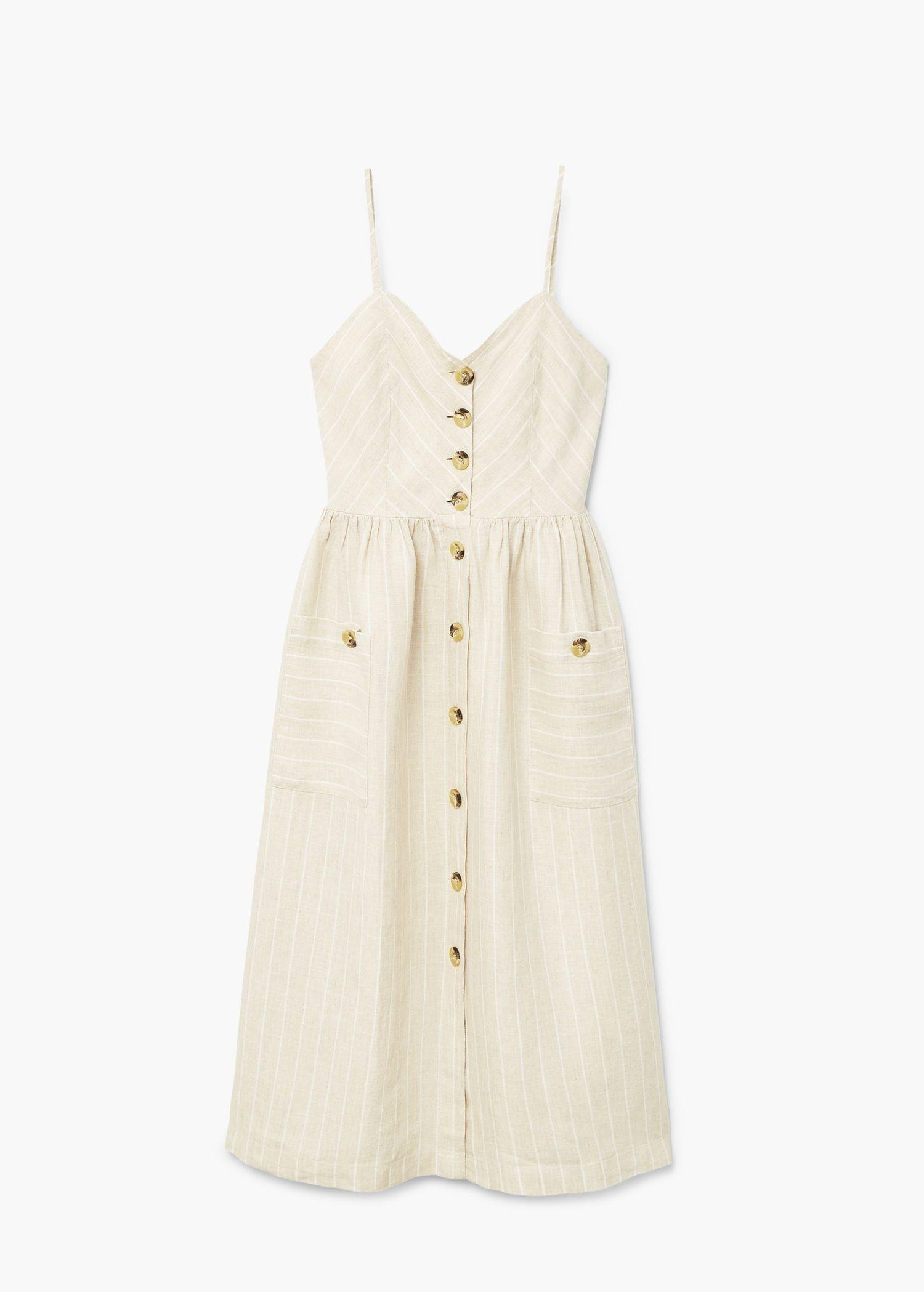 157405129a Vestido lino rayas - Mujer en 2019