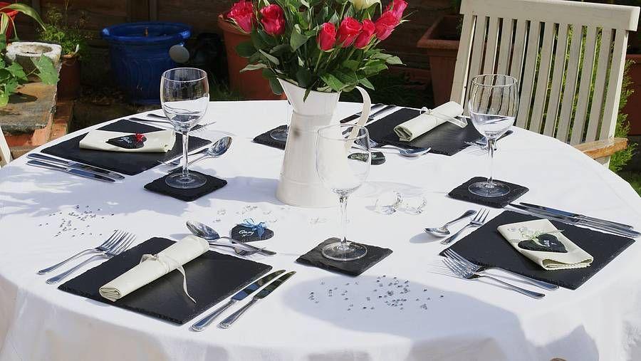 Slate Dining Table Mat Set