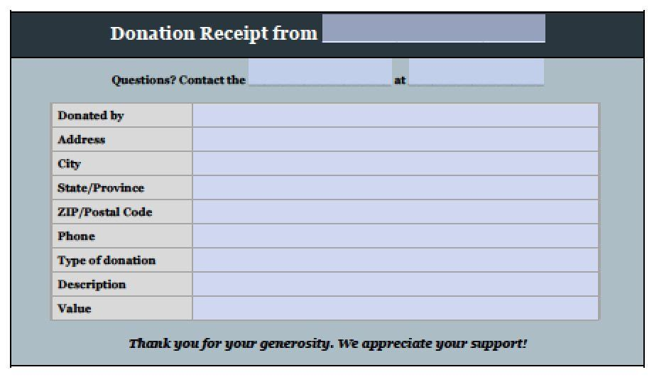 Donation Receipt Template Donation Form Templates Free Design